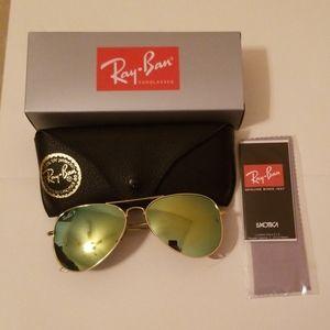 Ray-Ban Aviator Flash Silver Polarized  58 14 140